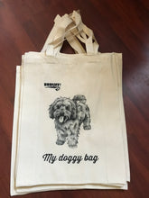 tote bag book bag shopping bag cavoodle doggy bag gift