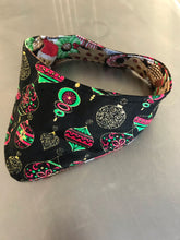 Christmas Dog Bandana reversible snap closure cotton reusable bandanna
