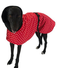 Greyhound Deluxe Dog coat red dog rug, double polar fleece washable extra wide hoodie