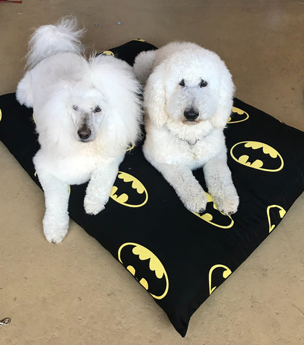 Stuff It cover only Batman design washable fabric, recycled dog bed, kennel bed puppy mastiff Dane big large