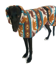 Greyhound Deluxe Dog coat dog rug, double polar fleece washable extra wide hoodie