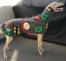 Greyhound Deluxe Dog rug coat DC comics polar fleece washable extra wide neck hoodie