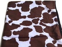 Stuff it cover only brown cow design cotton all sizes, puppy to Great Dane