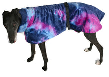 Luxury Dog coat dog rug, double polar fleece tie dye print washable