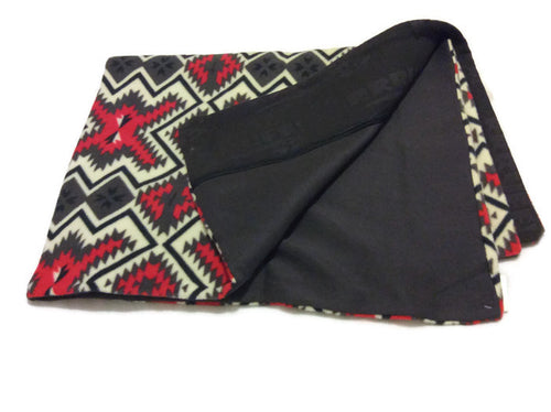 Red grey polar fleece dog bed cover large sizes washable removable cover with zip
