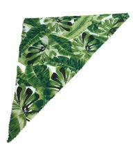Dog Bandanna cotton summer weight leaves design