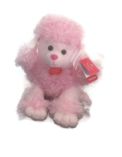 Pink poodle hand puppet soft toy beautiful gift fun puppy