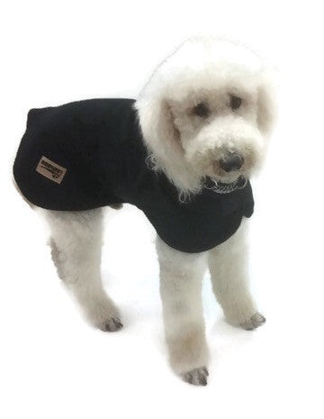 Black dog coat polar fleece