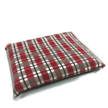 XL Dog Bed, tartan polar fleece, Large dog bed, washable