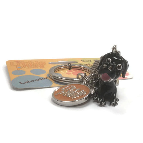 Black Labrador breed 3D keyring pedigree