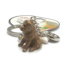 Chinese sharpei dog breed 3D keyring