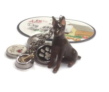 Doberman dog breed 3D keyring