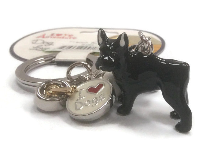 French Bulldog dog breed 3D keyring