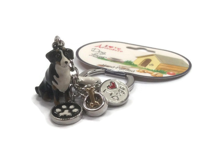 Bernese mountain dog keyring
