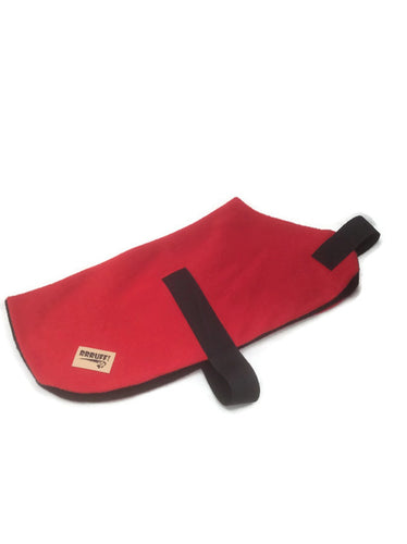 Red dog coat, polar fleece dog rug, xs,sml, lge, xxl, 4xl