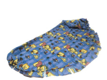 Puppy Blanket cat blanket rug blue polar fleece  fringed throw rug small