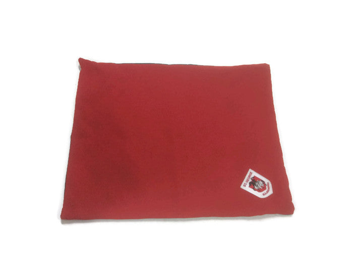 Illawarra Dragons, Red V, DIY Dog Bed, Staffy size, medium size, red pet bed, cover only
