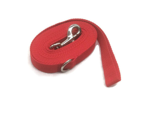 5mts 2.5cms Lead Red Leash Recall Beach Park Pet Dog Puppy Long Training Lead
