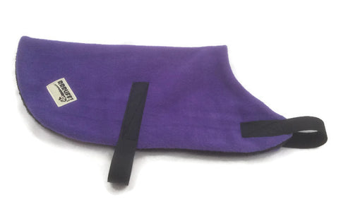 Purple all sizes fleece dog coat rug washable greyhound great dane