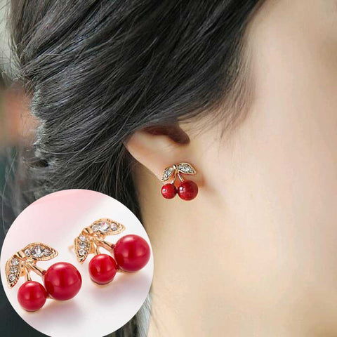 Limited edittion lovely Red cherry earrings
