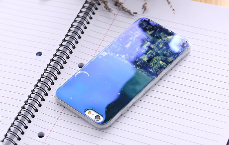 Modern Blue Ray Light Clear Mobile Phone