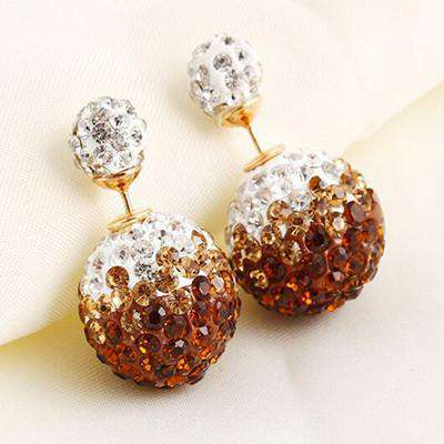 Cute Crystal Ball Stud Earrings
