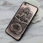 Sexy Lace Floral Paisley Flower Mandala Henna Clear Case For iPhone 6