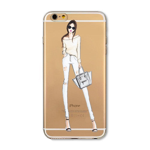 High fashion dress shopping template phone case for iPhone