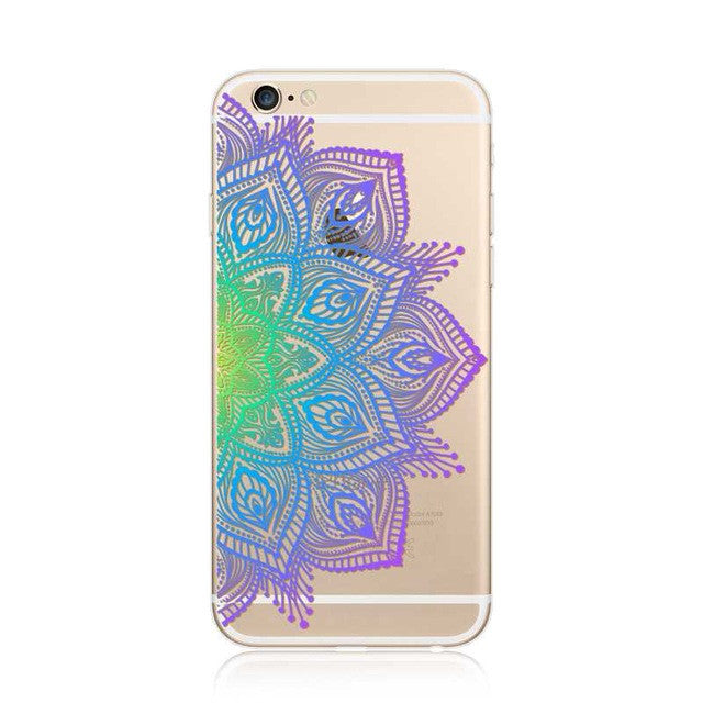 Vintage Paisley Mandala Flowers phone cover for iPhone