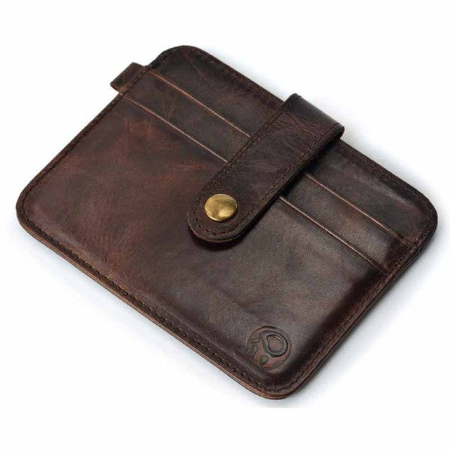 100% real leather Mini wallets