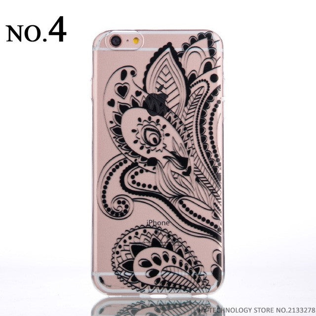 Clear Flower Pattern Phone Cases for iPhone