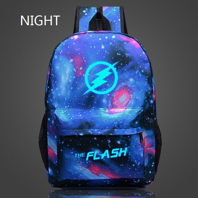 Flash light backpack bag