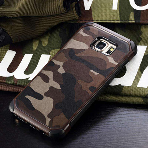Military Camo Hard Shockproof Case For Samsung Galaxy and Notes