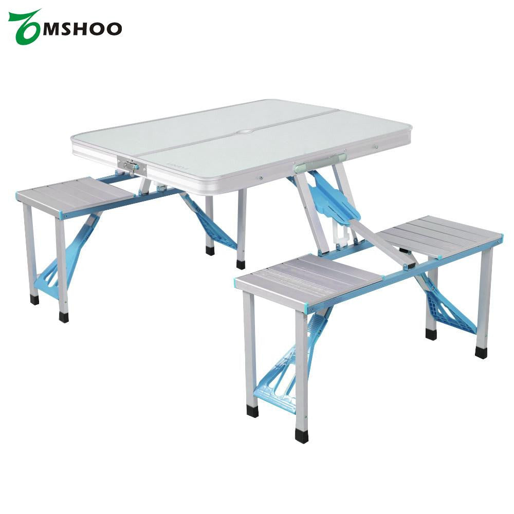 Portable Aluminum Alloy Folding Table Chairs Set for 4 Person  sc 1 st  One Stop Egg & Portable Aluminum Alloy Folding Table Chairs Set for 4 Person ...
