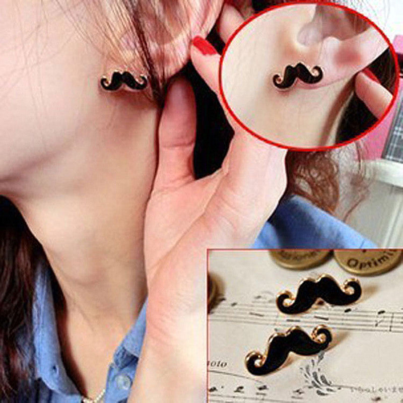 Sexy Cute Mustache Stud Earrings Sexy Mustache Accessories