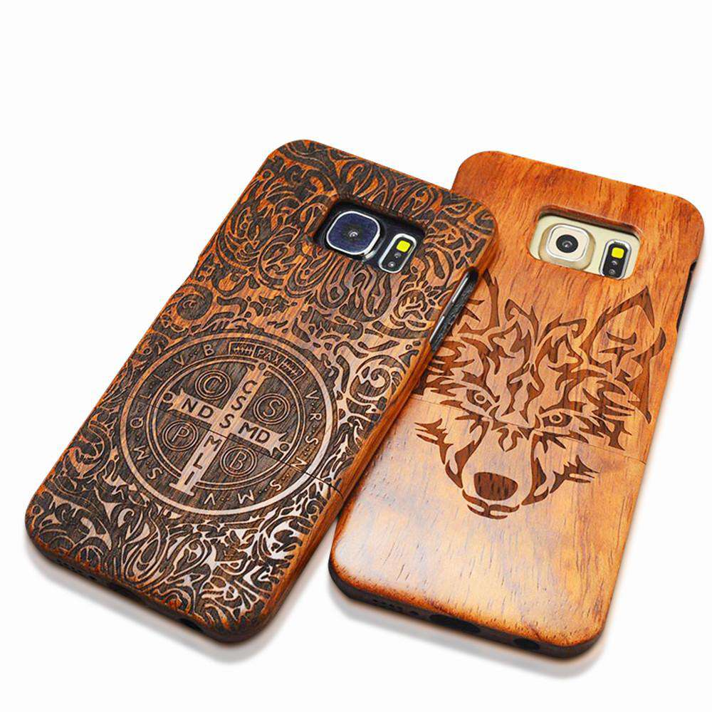 Natural Wood Embossed iPhone and Galaxy  Case
