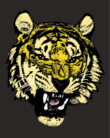 Tiger Head Black