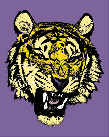 Tiger Head Purple