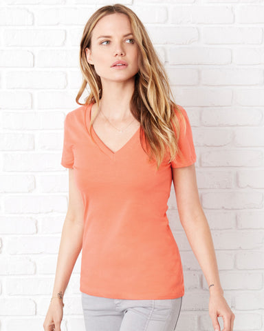 Bella + Canvas 6035  Deep V-Neck T-Shirt