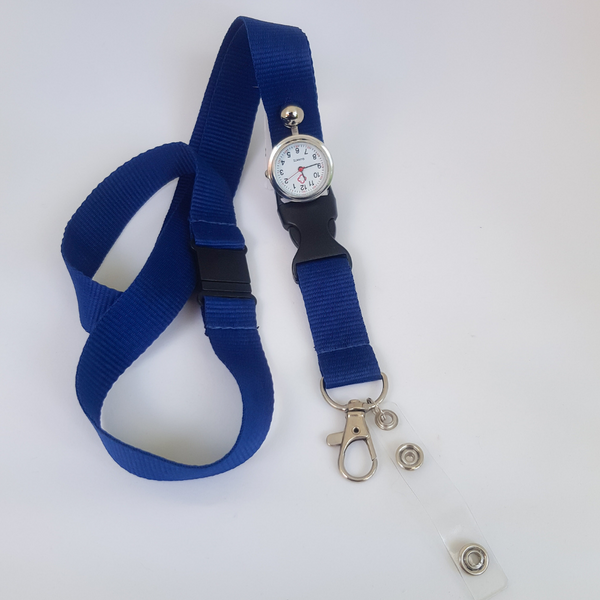 Lanyard Watch with Safety Snap. Navy or Purple