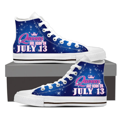 Queens are born on july 13- shoe