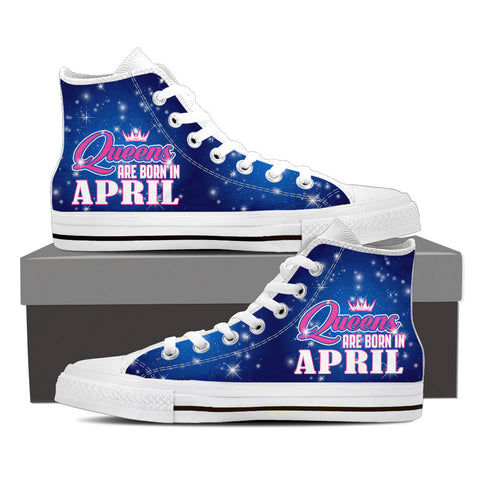 Queens are born in April - shoe