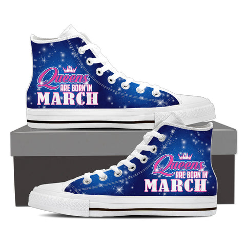 Queens are born in March - shoe