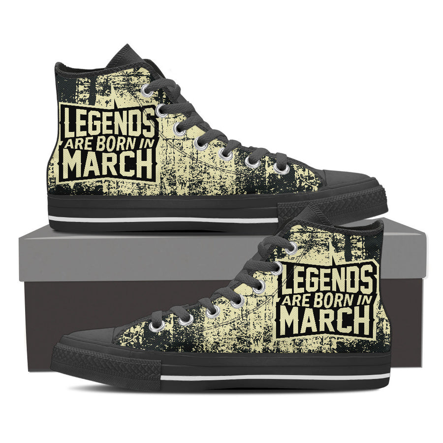 Legends are born in march - shoe