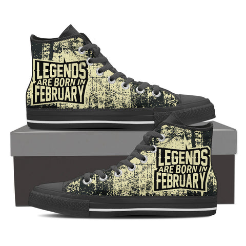 Legends are born in february - shoe