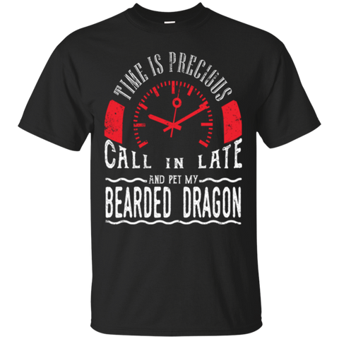Pet Bearded Dragon Reptile Shirt Call In Late