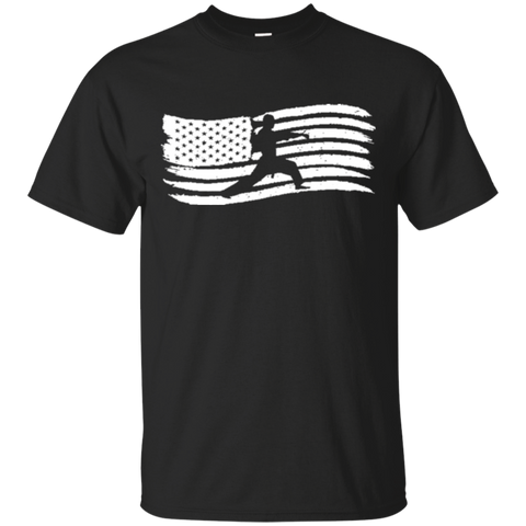 American Flag T-Shirt For Kids With Karate Boy Patriotic 2860