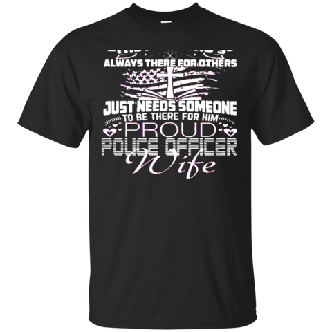 Best PROUD POLICE OFFICER WIFE-back Shirt 6757