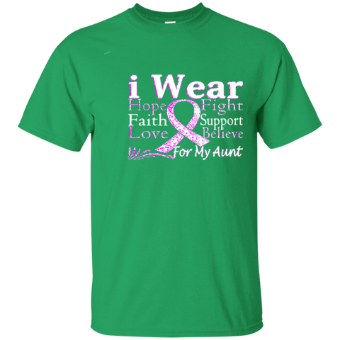 I Wear Ribbon For My Aunt Pancreatic Cancer Awareness T-Shirt 3439