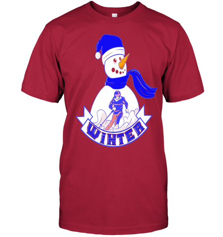 Snowman Winter Design   Ready for Skiing